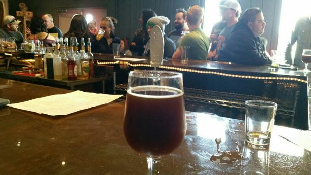 A barrel-aged Scotch ale was sighted amid the chaos at Palmer Brewery's grand opening.