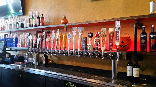 The taps are ready to go for Side Effex's grand opening.