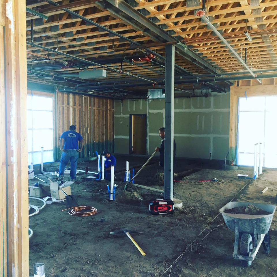 Construction started at the new, larger Las Cruces taproom in October. (Photo courtesy of Bosque)