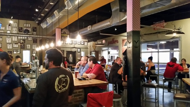 The crowds are still buzzing around the original taproom.