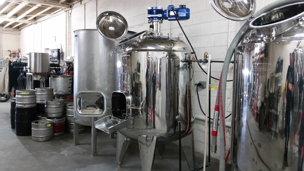 The 7-barrel brewhouse is ready to go.