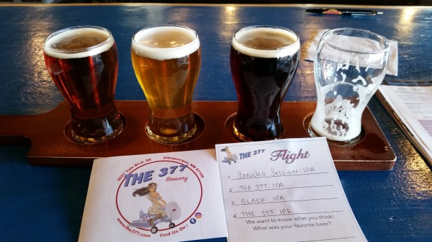 The 377 now has 11 beers on tap, and more coming, so be prepared to get more than one flight.