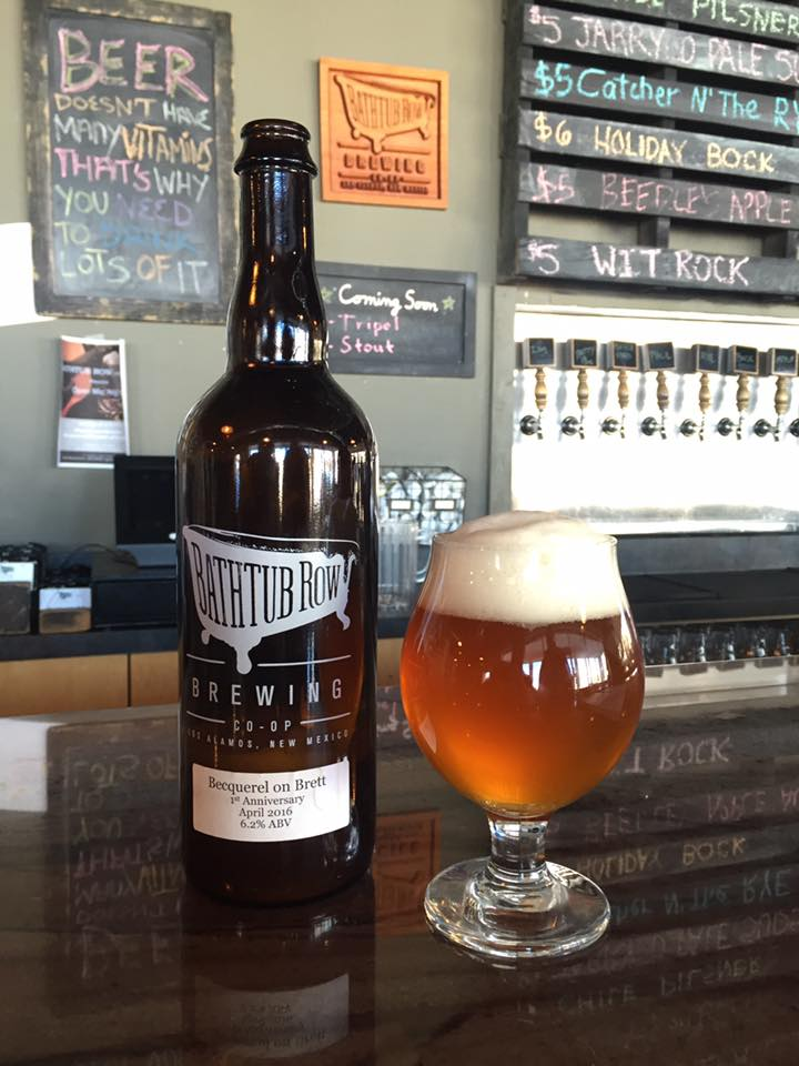 Bathtub Row also just recently bottled a beer for the first time. Introducing Becquerel on Brett. (Photo courtesy of BRB)