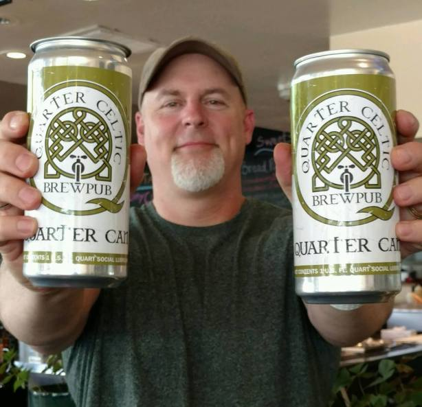 Ror shows off the popular Quarter Cans. (Courtesy of QC)