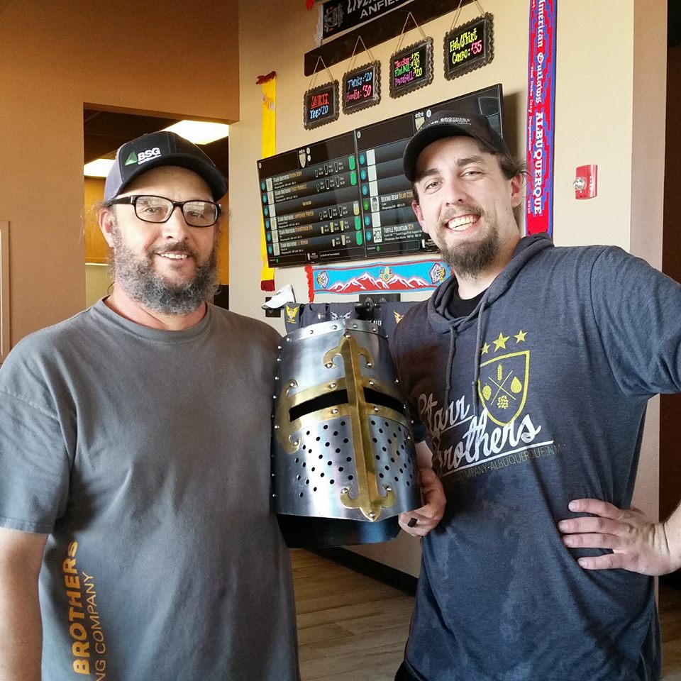 The brewers at Starr Brothers were all too happy to receive the official NMDSBC Stout Challenge trophy.